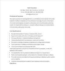 Database Resume Examples Professional Resume Templates