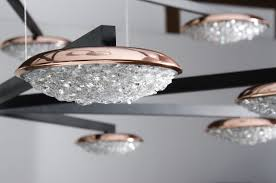 contemporary chandelier swarovski crystal copper led