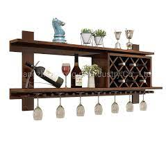 china wooden wall wine rack modern