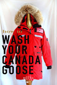 not sure if you can wash your canada goose coat at home i did