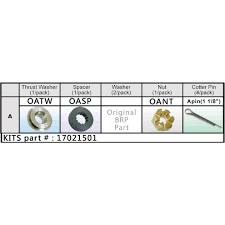 Evinrude Omc Nut Kit Propeller Shop Europe