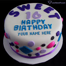 We love you very much, kid. Sweet 16th Birthday Cake For Girls With Name