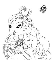 Small Picture Ashlynn Ella Wearing Beautiful Crown in Ever After High Coloring