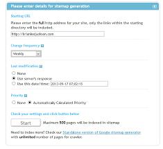 xml sitemaps settings