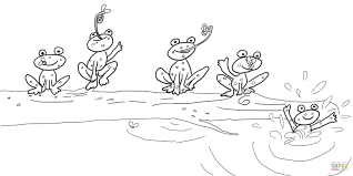 Small Picture 5 Little Speckled Frogs coloring page Free Printable Coloring Pages