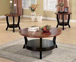 contemporary coffee table sets round