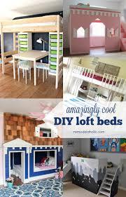Floating Loft Bed Diy Loft Beds For Kids How To Build End To End Floating Loft Bed