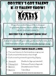 Talent Show Flyer Odyssey Charter Schools Talent Show Sign Up Odyssey Charter Schools 17