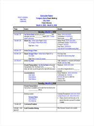 Travel Schedule 6 Travel Schedule Examples Samples