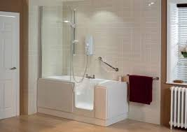walk in bathroom ideas. Beige Floor And White Ceramic Wall Tiles For Small Bathroom Ideas With Chic Walk In Tub Shower Combo E
