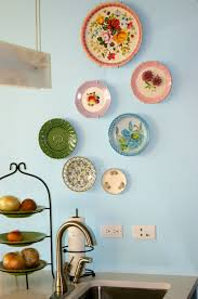 Decorative Kitchen Wall Plates Kitchen Accessories Cute Plates In Floral Patterns Of Decorative