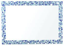 sea glass inspired mosaic decorative