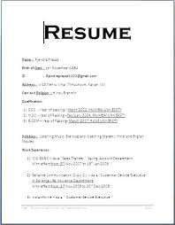 Sample Resume Format Custom Simple Sample Resume Format Sample Simple Resume Format Resume