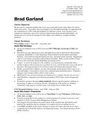 Sample Resume Objectives For On The Job Training Fresh Career