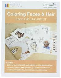 Copic Hair Color Chart Buy Copic Coloring Faces Hair Book And Line Art Kit Online