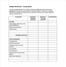 budget sheets pdf 8 monthly budget spreadsheet templates free word excel pdf
