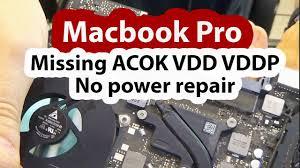Macbook Pro No Power Light 2012 Macbook Pro Dead No Power No Green Light Repair Missing Acok Vdd Vddp