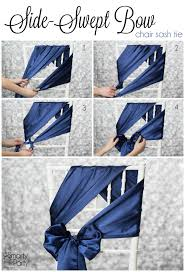 how to tie a side swept bow chair sash smarty had a party