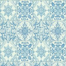 details about kitchen bathroom tile wallpaper white blue contour vintage square tiles x422