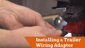how to install a trailer wiring adapter