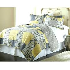 yellow and gray quilt image of full queen cotton patchwork quilt set yellow grey navy and yellow and gray quilt