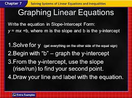 use the graph to determine whether each system has no solution one solution or 10 graphing linear equations write