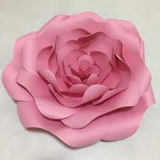 Paper Flower Photo Booth Backdrop 7pcs Pink Giant Paper Flowers For Girls Party Wedding Decor Or