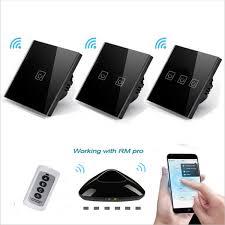 2019 <b>EU UK Standard Wireless Remote</b> Control Touch Switch 1 ...