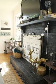 black painted fireplace from primitive and proper
