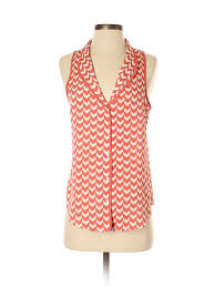 Details About Pim Larkin Women Pink Sleeveless Blouse S