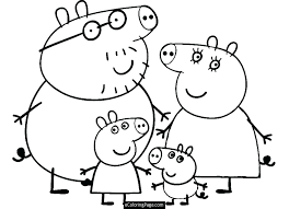 Peppa Pig Coloring Pig Coloring Pages Unique Pig Coloring Page With