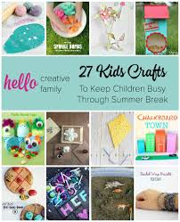 looking for tons of great kids craft ideas to keep children busy over summer break here