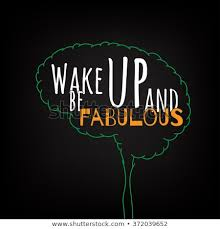 Wake Be Fabulous Motivation Clever Ideas Stock Vector Royalty Free