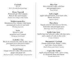 Chart House Cocktail Menu Food And Cocktail Pairings A New Cocktail Frontier