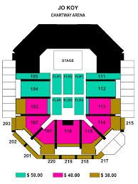 Union Bank And Trust Pavilion Seating Chart Jo Koy Chartway Arena Norfolk Virginia
