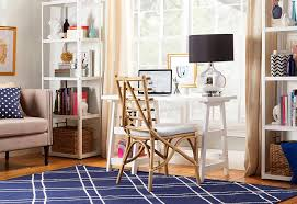 home office flooring. Glam Home Office With White Walls And Glass Window Together Hardwood Flooring Freestanding Shelving N
