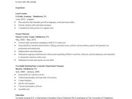 early childhood education resume 10 sample teacher resumes and cover letters letter for medical