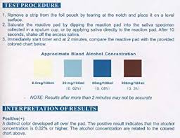 Etg Alcohol Chart 10 One Step Alcohol Saliva Test Strip Pack By Dmi
