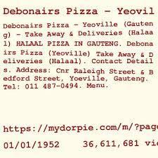 debonairs pizza yeoville