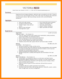 40 New Collection Of Restaurant Resume Sample - Resume Designs ...