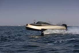Enata's 2020 carbon fiber Foiler hydrofoil power boat