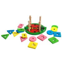 «Hongji Toys <b>Деревянная игрушка</b>-каталка» — Пирамидки для ...