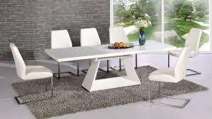Contemporary white dining chairs Wooden Silvanoextendingwhitehighglosscontemporarydiningtabledaliawhite Diningchairs10912pjpg Enzio Designs Silvano Extending White High Gloss Contemporary Dining Table