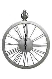 antique style silver wheel roman numerals wall clocks loading zoom