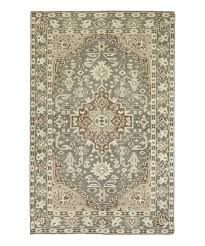 gray cream traditional herrera wool rug