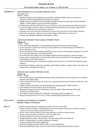 96 Construction Project Manager Resume Template Construction