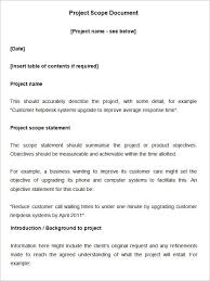 Simple Statement Of Work Template Scope Of Work Template 26 Free Word Pdf Documents