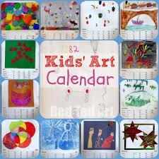 How To Make A School Calendar Kids Art Calendar Gifts That Kids Can Make Red Ted Art