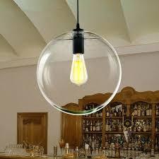 pendant lights modern re globe pendant lights fixture home glass ball pendant lamp suspension clear