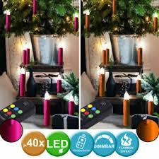 Details Zu 40x Led Flacker Kerzen Kabellos Dimmer Fernbedienung Weihnachts Fenster Lampen